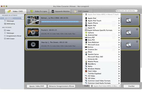 Any video converter ultimate pour mac convertisseur vid o convertir dvd t l chargeur vid o - Couper un fichier audio en ligne ...