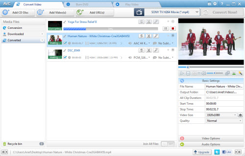 Any Video Converter Freeware Screenshot