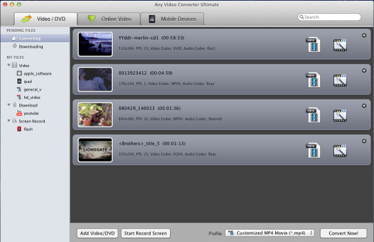 Main Window of Mac Video Converter for New iPad
