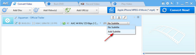 How to Add SRT Subtitles to Video Clips by Using Any Video Converter