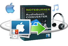 NoteBurner Audio Book Converter = Remove DRM on Audio book + audiobook to mp3 Converter + audio book to mp3 Converter
