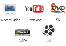 Any Video Converter Ultimate= DVD Ripper + Video Recorder + MPEG Converter + AVI Converter + FLV Converter + YouTube Video Converter + MP4 Converter