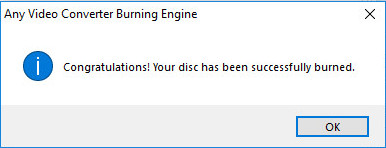burn videos to disc successfully