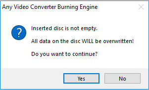 erase the disc