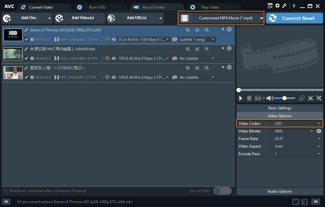 HEVC Converter, H 265 Video Converter Free Download