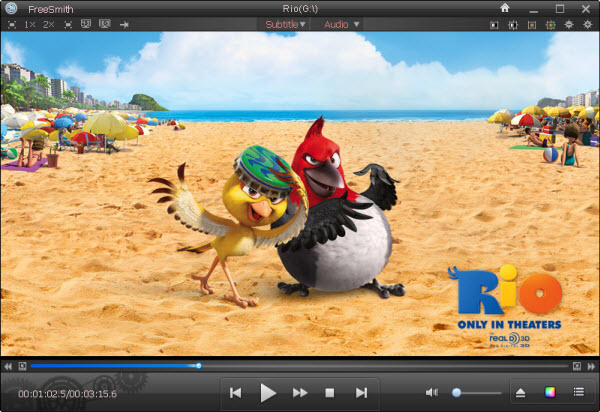 Main Window of FreeSmith Video Player