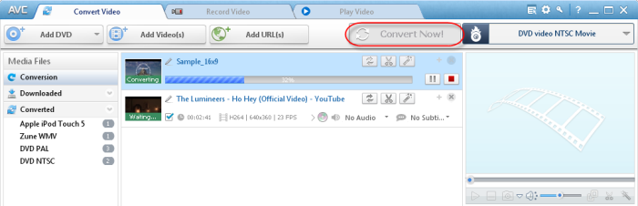 Start encoding videos