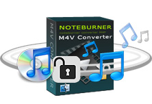 NoteBurner M4V Converter = Remove DRM from M4V + M4V to MP4 Converter + M4V to MOV Converter + M4V to iPod Converter + M4V to iPhone Converter + M4V to QuickTime Video Converter