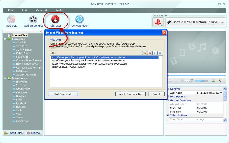 Any DVD Converter for PSP - Free download of PSP DVD Converter, PSP