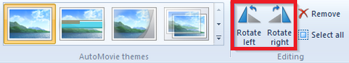 Rotate Videos with Windows Movie Maker