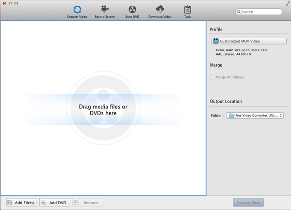 Any Video Converter Ultimate for Mac Screen shot