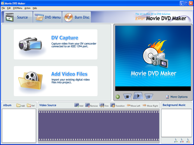 dvd flick menu templates download - screenshot movie dvd maker