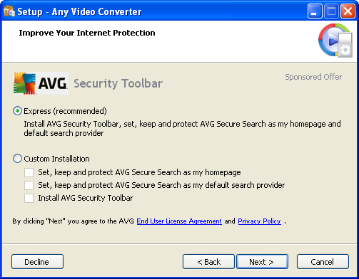Install AVG Toolbar