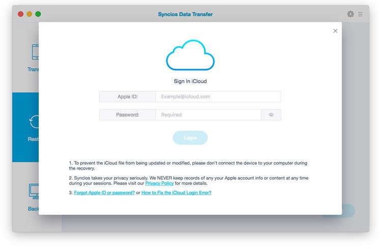 Screenshot--SynciOS Data Transfer for Mac