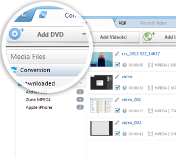 Convert DVD to common video and audio formats