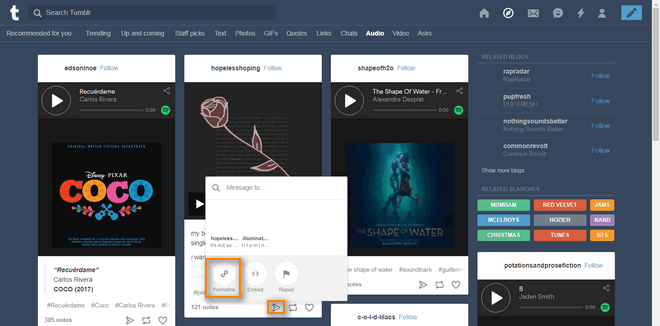 How to download audio files from tumblr