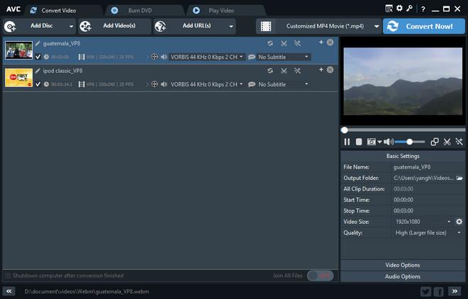 Free Webm to MP4 Video Converter - Convert Webm to MP4, free