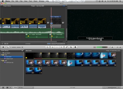Main Window of iMovie