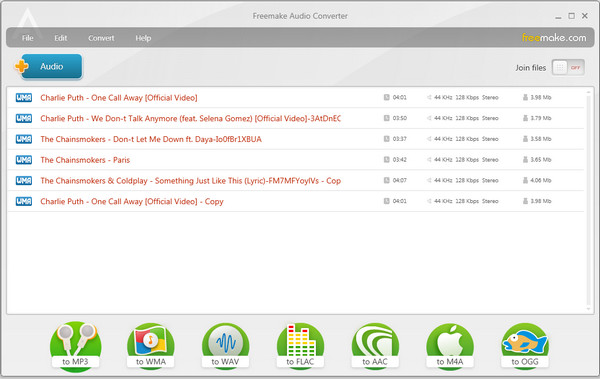How to convert WMA files to MP3, AAC, WMA, OGG format using free WMA