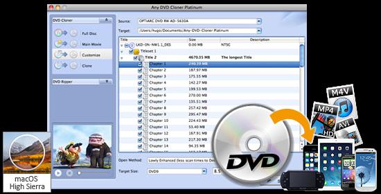Any DVD Cloner Platinum for Mac- Burn DVD to DVD on Mac