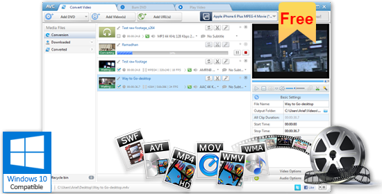 Any Video Converter Freeware for Windows: Convert any video to MP4