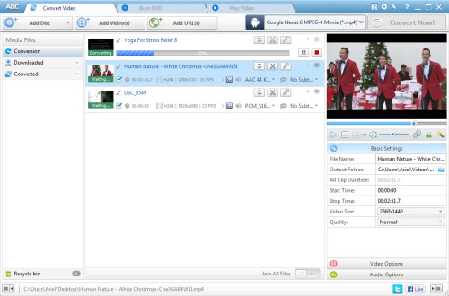 Any DVD Converter Pro. Screen shot