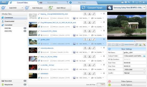Main Windows of Any Video Converter Ultimate